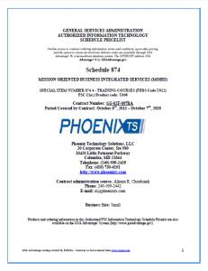 Phoenix TS MOBIS Schedule 874