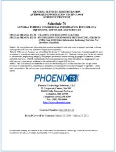 Phoenix TS GSA Schedule IT Training Price List