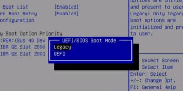 Legacy BIOS v UEFI