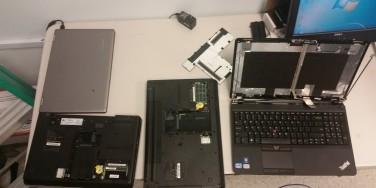 Three Broken Lenovo Laptops