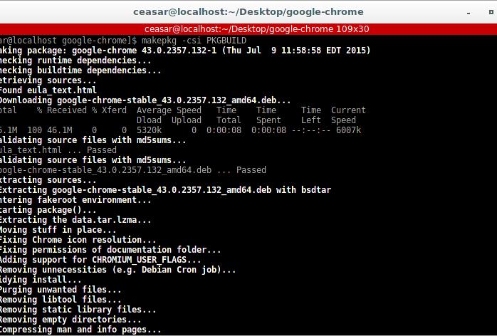 makepkg Arch Linux