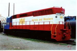 N & W Bicentiennial Engine at Virginia Transportation Museum