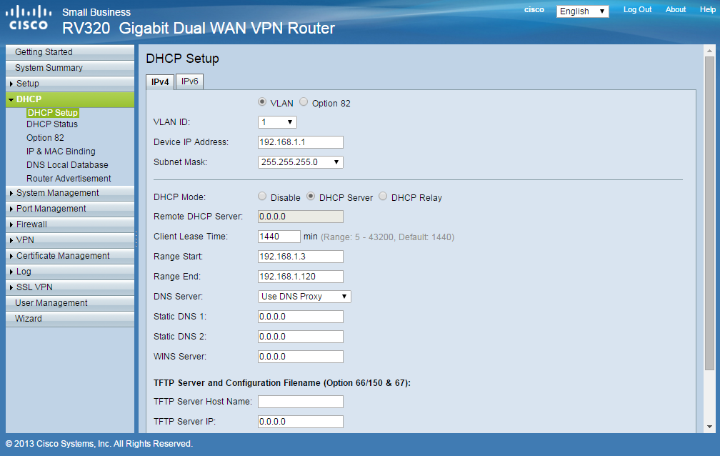 cisco router DHCP