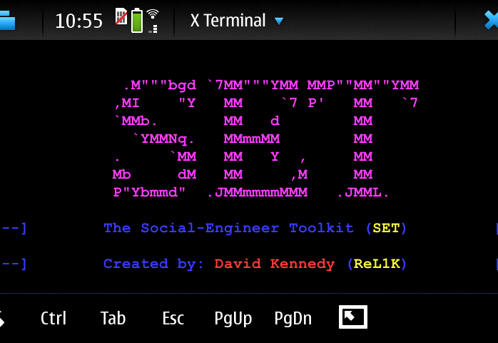 SET social engineering toolkit